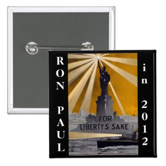 ron paul 2012 liberty 15 cm square badge