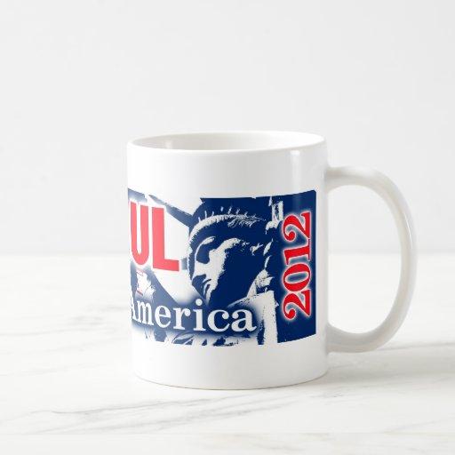 Ron Paul 2012 - Liberty for America Basic White Mug