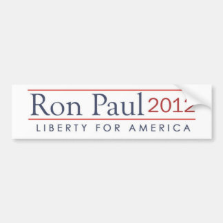 Ron Paul 2012 Liberty for America Bumper Sticker