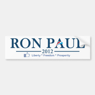 Ron Paul 2012 - Liberty * Freedom * Prosperity Bumper Sticker