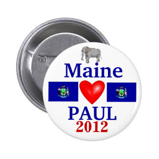 Ron Paul 2012 Maine 6 Cm Round Badge