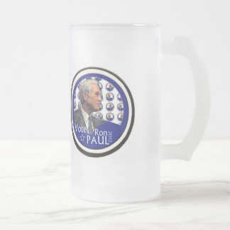 Ron Paul 2012 16 Oz Frosted Glass Beer Mug