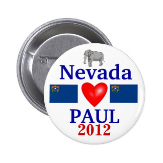 Ron Paul 2012 Nevada 6 Cm Round Badge
