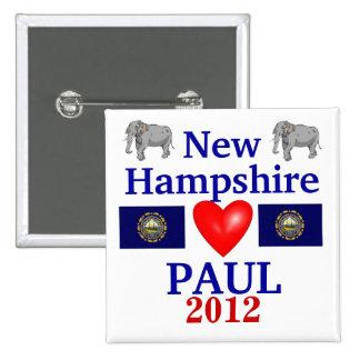 Ron Paul 2012 New Hampshire 15 Cm Square Badge