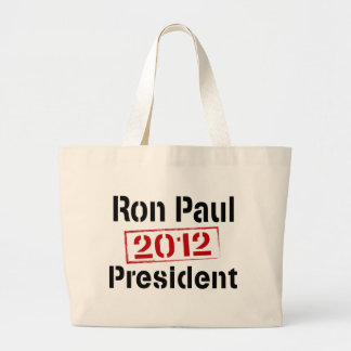 Ron Paul 2012 president Jumbo Tote Bag