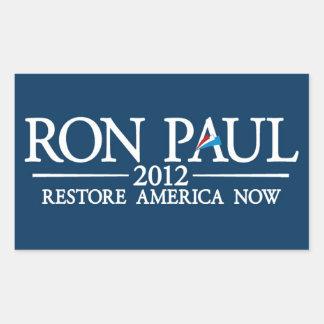 RON PAUL 2012 RECTANGULAR STICKER
