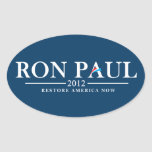 Ron Paul 2012 - Restore America Now Oval Stickers