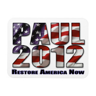 Ron Paul 2012 Restore America Now Rectangular Photo Magnet