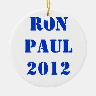RON PAUL 2012 ROUND CERAMIC DECORATION