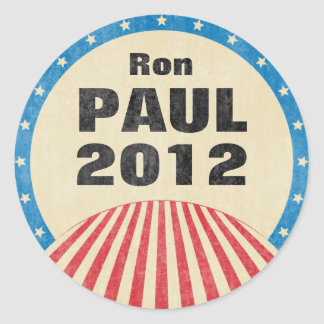 Ron Paul 2012 Round Stickers