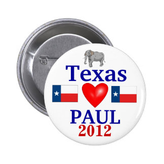 Ron Paul 2012 Texas 6 Cm Round Badge