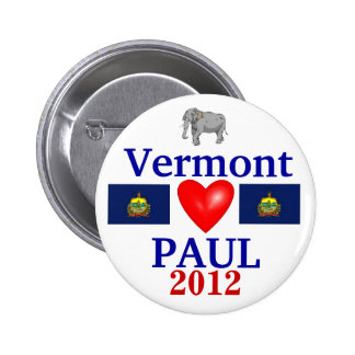 Ron Paul 2012 Vermont 6 Cm Round Badge