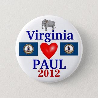 Ron Paul 2012 Virginia 6 Cm Round Badge