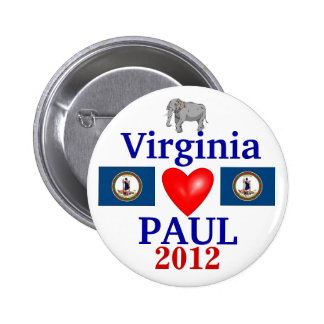 Ron Paul 2012 Virginia 6 Cm Round Badge