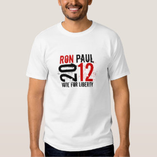 Ron Paul 2012 - Vote for LIberty (red / black) Tshirts