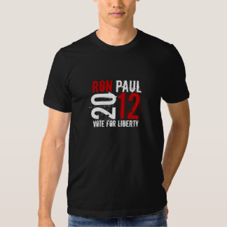 Ron Paul 2012 - Vote for Liberty (red/ white) Tee Shirt