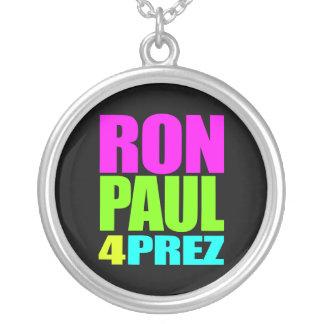 RON PAUL 4 PREZ ROUND PENDANT NECKLACE
