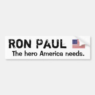 Ron Paul American Hero Bumper Sticker