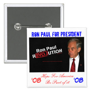 ron paul banner, Ron Paul for President , Hope ... 15 Cm Square Badge