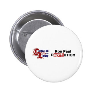 Ron Paul Campaign For Liberty Revolution 6 Cm Round Badge
