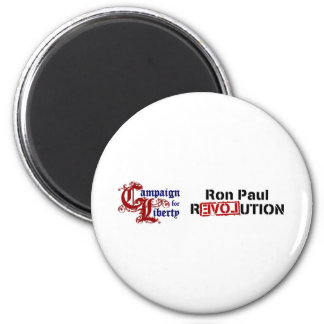 Ron Paul Campaign For Liberty Revolution 6 Cm Round Magnet