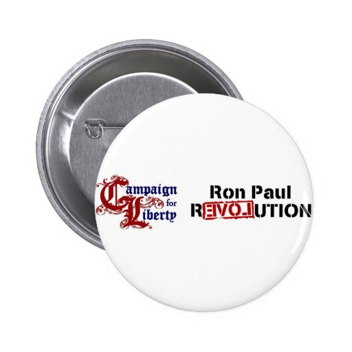 Ron Paul Campaign For Liberty Revolution Pinback Button