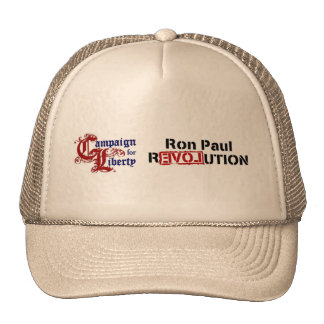 Ron Paul Campaign For Liberty Revolution Mesh Hat