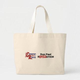 Ron Paul Campaign For Liberty Revolution Jumbo Tote Bag