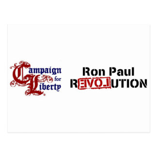 Ron Paul Campaign For Liberty Revolution Post Card