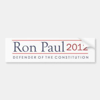 Ron Paul Defender of the Constitution 2012 Bumper Sticker