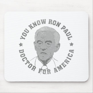 Ron Paul doctor for America Mouse Pad