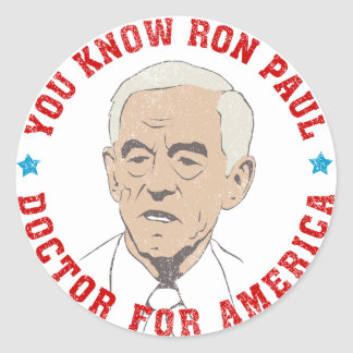 Ron Paul doctor for America Sticker