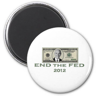 """Ron Paul """"End the Fed"""" 6 Cm Round Magnet"""