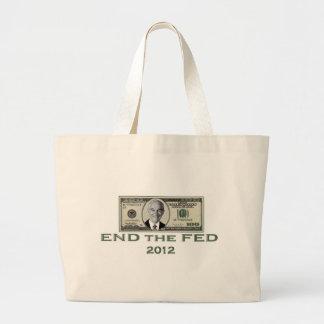 "Ron Paul ""End the Fed"" Jumbo Tote Bag"