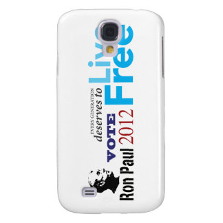 Ron Paul Every Generation Deserves To Live Free Galaxy S4 Cases