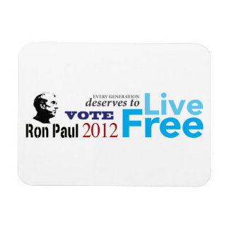 Ron Paul Every Generation Deserves To Live Free Rectangular Photo Magnet
