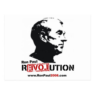 Ron Paul face Stencil - Revolution Post Cards
