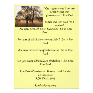 Ron Paul flyer