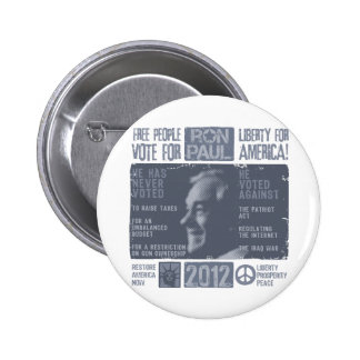 Ron Paul for president 2012 6 Cm Round Badge