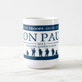Ron Paul for President 2012 Campaign Coffee Cup Basic White Mug