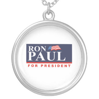 RON PAUL FOR PRESIDENT (Ban Round Pendant Necklace