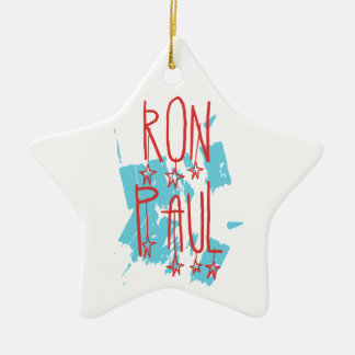 Ron Paul for President Ceramic Star Decoration