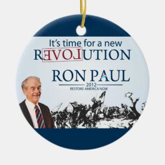 Ron Paul for President Round Ceramic Decoration
