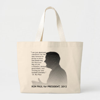 Ron Paul for President of the USA, 2012 Jumbo Tote Bag