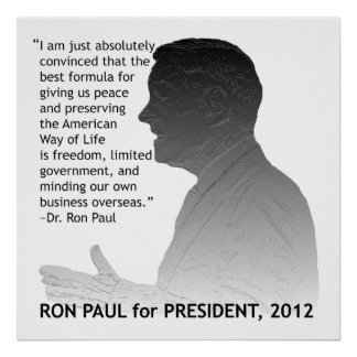 Ron Paul for President of the USA Poster