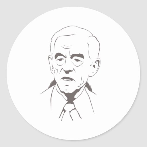 Ron Paul for president Round Stickers