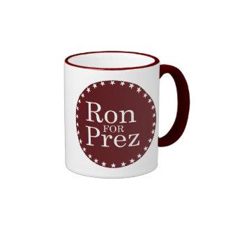 RON PAUL FOR PREZ (white) Ringer Mug