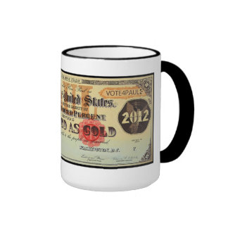 Ron Paul Gold Certificate Mug