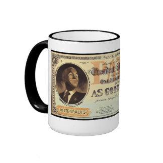 Ron Paul Gold Certificate Ringer Mug