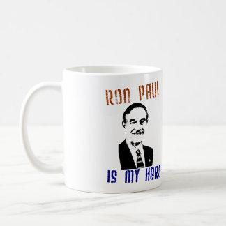 Ron Paul is my hero Basic White Mug